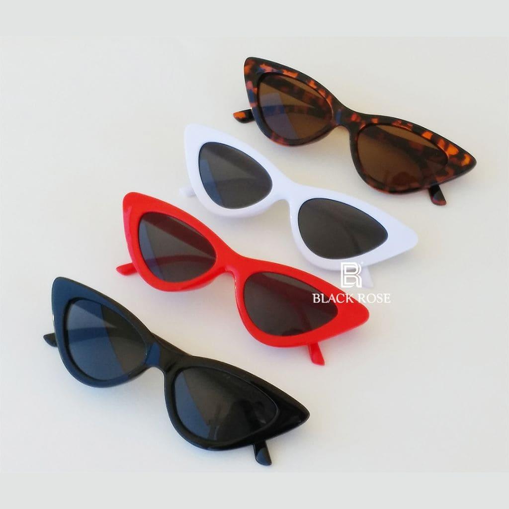 γυαλιά ηλίου cat eye, μοντέρνα cat eyes άσπρα-κόκκινα-μαύρα-ταρταρούγα, black cat eye, red cat eye, white cat eye, ταρταρούγα cat eye, cateyes fox, γυαλιά ηλίου fox- black rose sunglasses