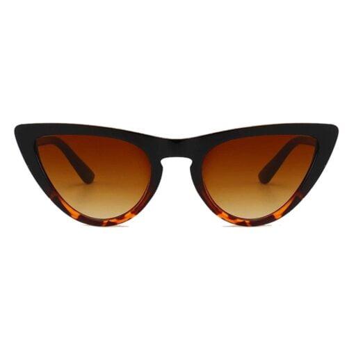 γυναικεία γυαλιά ηλίου cat eyes, καφέ γυαλιά ηλίου, τιγρέ-λεοπάρ cateyes, μοντέρνα cat eye gold tiger-black rose κοφτά επάνω