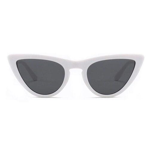 γυναικεία γυαλιά ηλίου cat eyes, άσπρα γυαλιά ηλίου cateyes, λευκά γυαλιά ηλίου unisex, άσπρα cat eyes sunglasses, μοντέρνα cat eyes white tiger - black rose sunglasses
