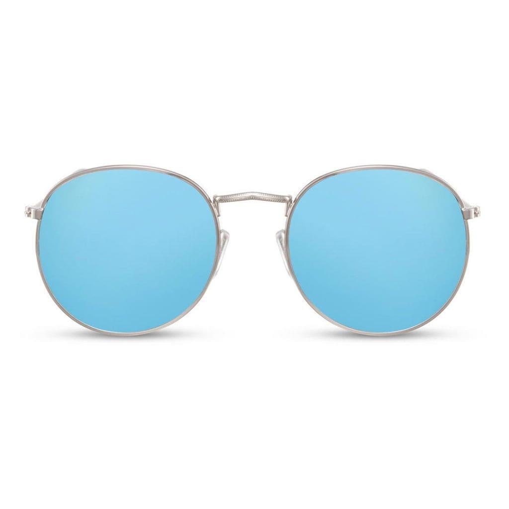 γυαλιά ηλίου καθρέφτης μπλε, μπλε γυαλιά ηλίου γυναικεία-ανδρικά, γυαλιά ηλίου με ασημί μεταλλικό σκελετό, blue yolo-black rose