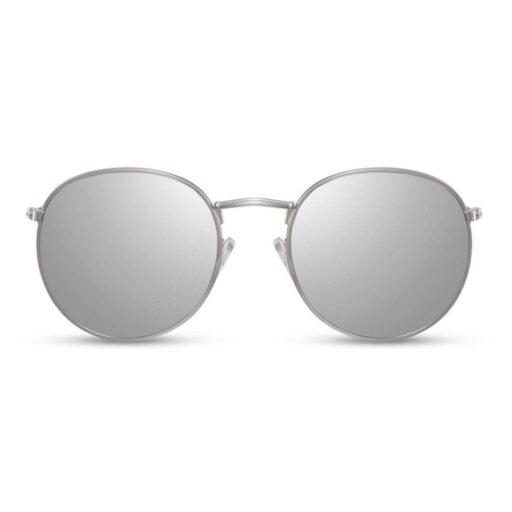 ασημί γυαλιά ηλίου με καθρέφτη, ασημί γυαλιά ηλίου γυναικεία-ανδρικά, γυαλιά ηλίου με ασημί μεταλλικό σκελετό, silver yolo-black rose