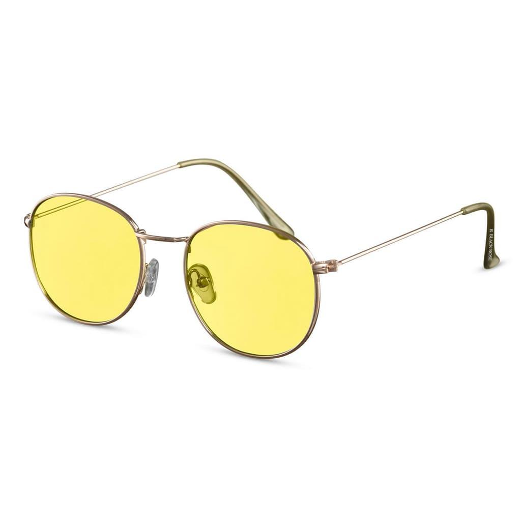 κίτρινα παστέλ γυαλιά ηλίου, γυαλιά ηλίου πόλης με διάφανους κίτρινους φακούς, χρυσά μεταλλικά γυαλιά ηλίου κίτρινα, paris-black rose