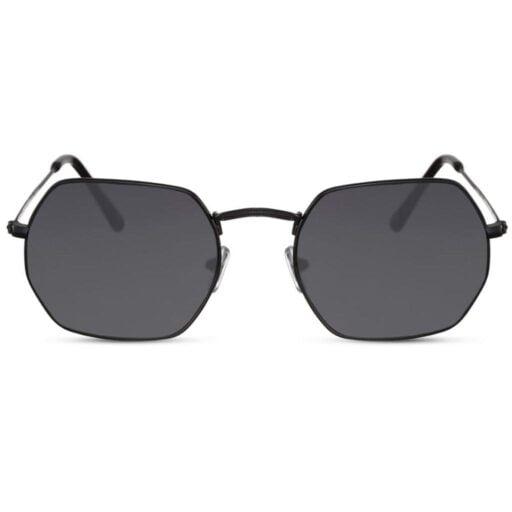 μαύρα γυαλιά ηλίου, πολυγωνικά γυαλιά ηλίου μεταλλικά, smoke φακό, μαύρα ανδρικά γυαλιά-γυναικεία, jet black shadow-black rose