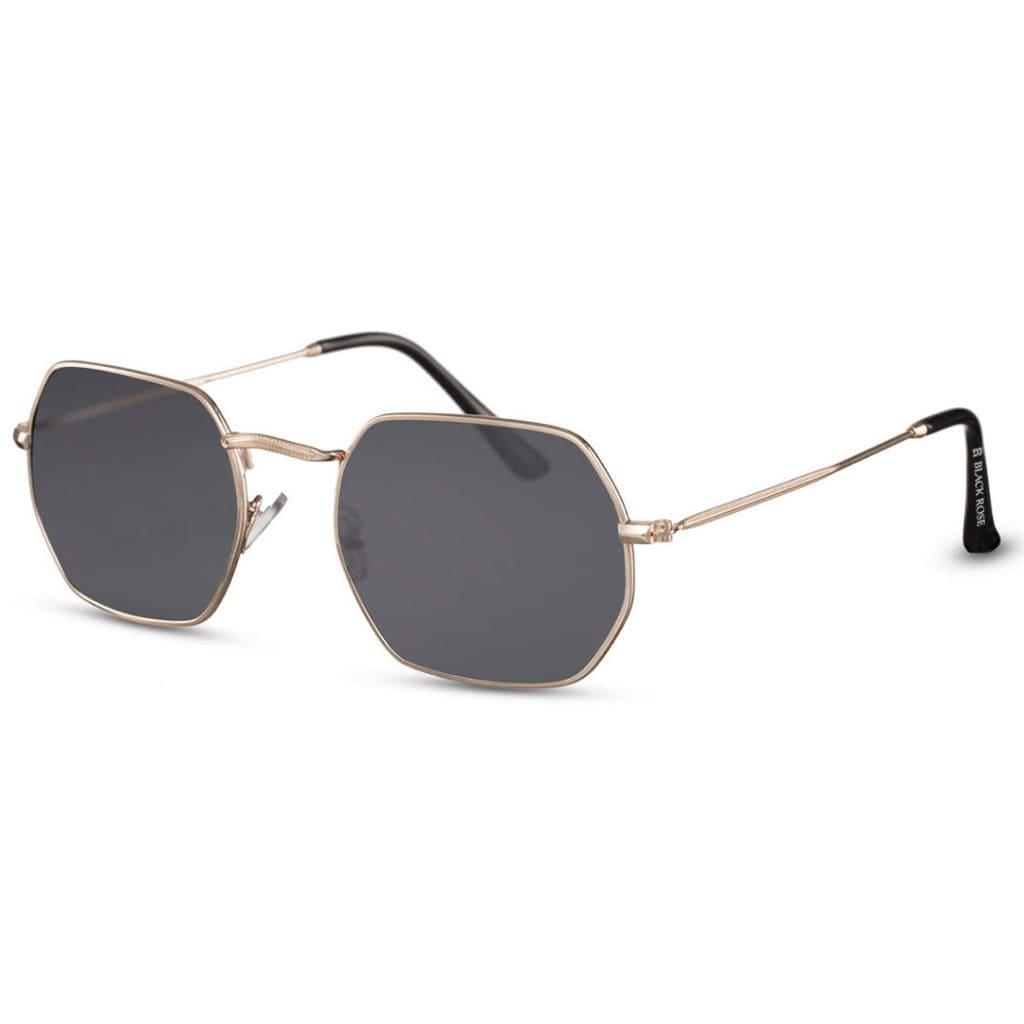γυαλιά ηλίου γεωμετρικά, πολυγωνικά ηλίου με χρυσό σκελετό-smoke φακό, γυναικεία-ανδρικά γυαλιά dark shadow-black rose
