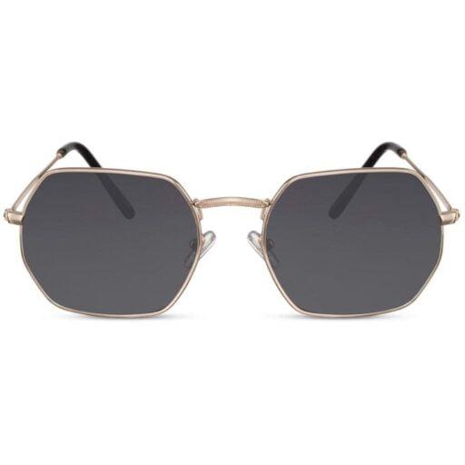 γυαλιά ηλίου πολυγωνικά, γεωμετρικά γυαλιά ηλίου με χρυσό σκελετό-smoke φακό, ανδρικά-γυναικεία γυαλιά dark shadow-black rose