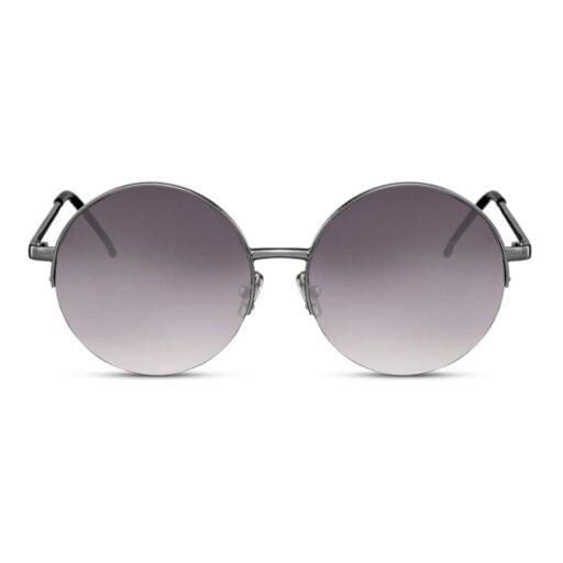 γυαλιά ηλίου, γυναικεία γυαλιά ηλίου στρογγυλά, μαύρα γυαλιά ηλίου μεγάλα, στρογγυλά γυαλιά ηλίου με φιμέ σκούρο φακό, unisex γυαλιά ηλίου dark moon-black rose