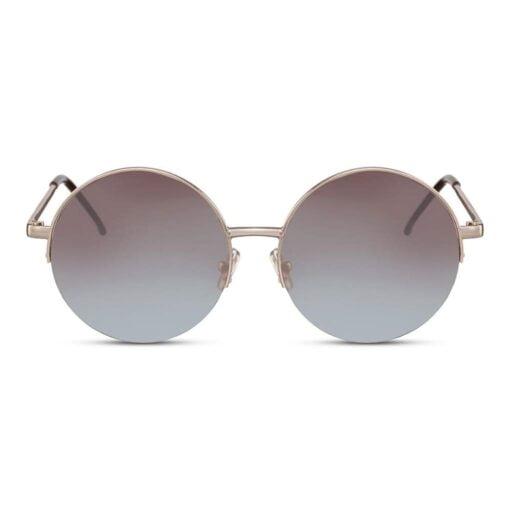 στρογγυλά γυαλιά ηλίου, γκρι φακός, χρυσά γυαλιά ηλίου, γυναικεία γυαλιά ηλίου μεγάλα, μεταλλικά unisex dusty moon-black rose