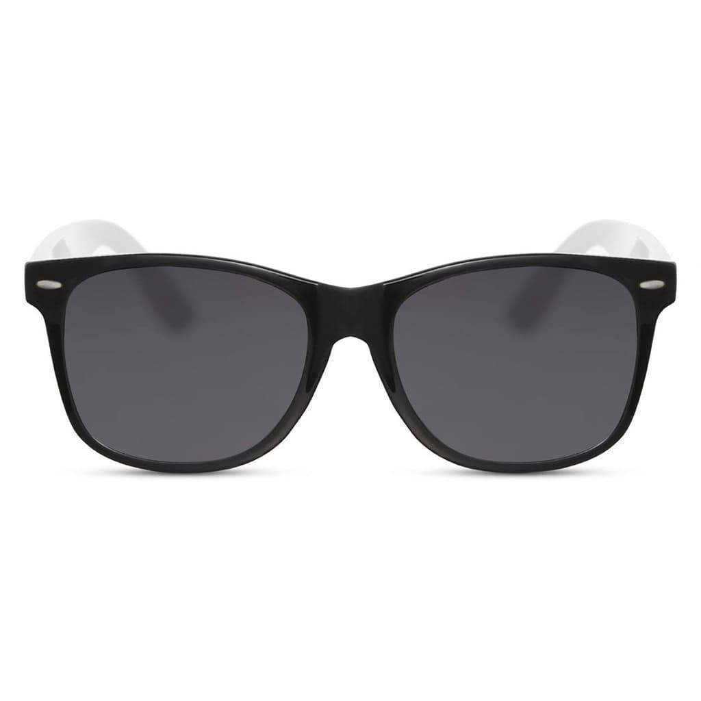 ασπρόμαυρα γυαλιά ηλίου, γυναικεία-ανδρικά γυαλιά ηλίου black and white, μαύρα γυαλιά με διακριτικό άσπρο περίγραμμα berlin-black rose