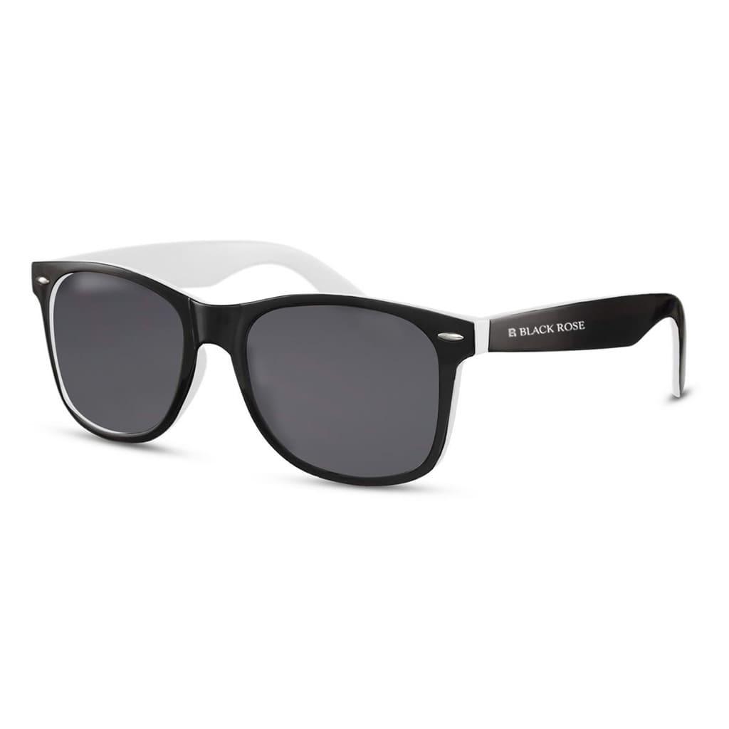 ασπρόμαυρα γυαλιά ηλίου, ανδρικά-γυναικεία γυαλιά ηλίου black and white, μαύρα γυαλιά με διακριτικό άσπρο περίγραμμα berlin-black rose