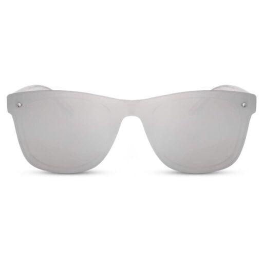 ασημί γυαλιά ηλίου, ασημένια γυαλιά ηλίου χωρίς σκελετό, wayfarer γυναικεία-ανδρικά γυαλιά ηλίου με μεγάλο καθρέφτη, silver ice-black rose sunglasses