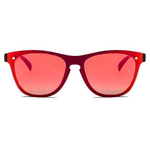 γυαλιά ηλίου κόκκινα, wayfarer γυναικεία-ανδρικά γυαλιά ηλίου με κόκκινο καθρέφτη μεγάλο χωρίς σκελετό mirror red fire