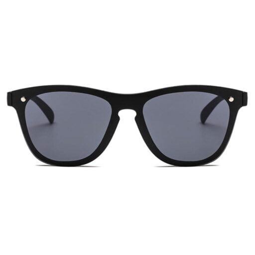 μαύρα γυαλιά ηλίου, wayfarer γυναικεία-ανδρικά γυαλιά ηλίου με μαύρο καθρέφτη μεγάλο χωρίς σκελετό mirror black fire-black rose