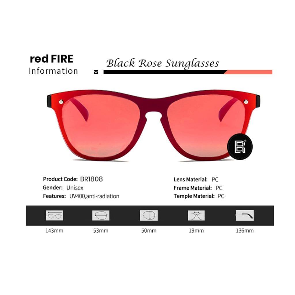 Wayfarer γυαλιά, wayfarer, γυαλιά ηλίου κόκκινα, wayfarer sunglasses, wayfarer γυναικεία-ανδρικά, γυαλιά ηλίου με κόκκινο καθρέφτη, unisex mirror wayfarer Red Fire-Black Rose