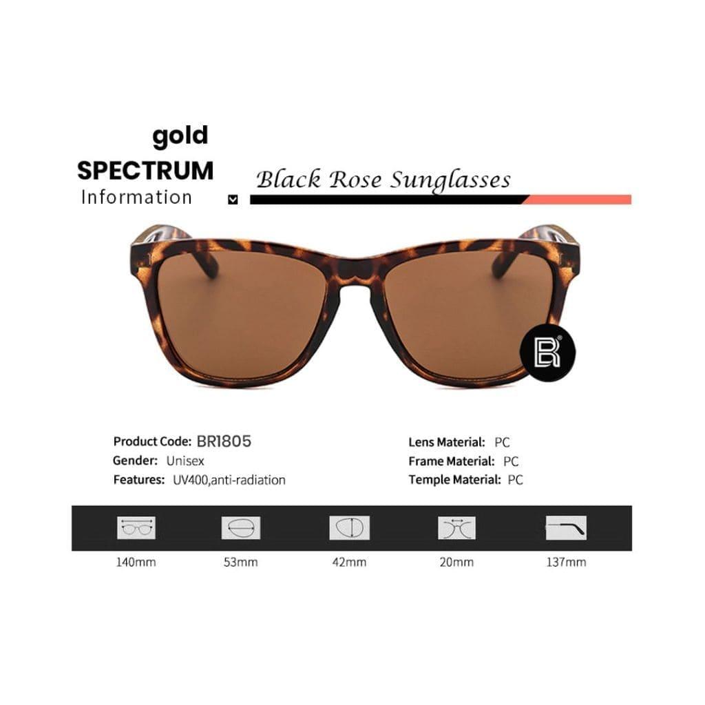 γυναικεία γυαλιά ηλίου, λεοπάρ γυαλιά ηλίου, αναλυτικές πληροφορίες-μεγέθη, gold spectrum-black rose