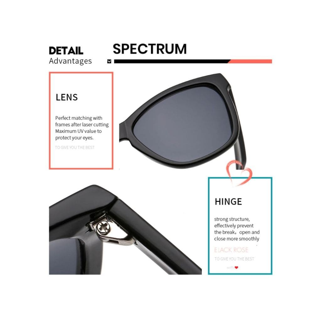 wayfarer γυαλιά, μαύρα γυαλιά ηλίου, wayfarer γυαλιά ηλίου με μαύρο καθρέφτη, ποιότητα φακού - σκελετού γυαλιών ηλίου black spectrum-black rose